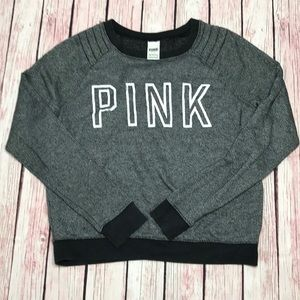 PINK Victoria's Secret grey sweater crew small
